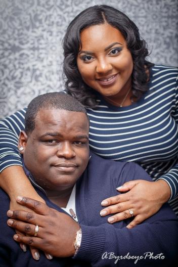 Toledo Ohio engaged couple at Abyrdseyephoto Studio