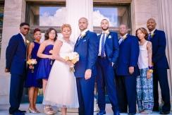 Toledo Art Museum Wedding Party Portrait