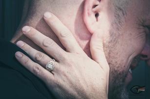 Wedding Ring shot Kiss